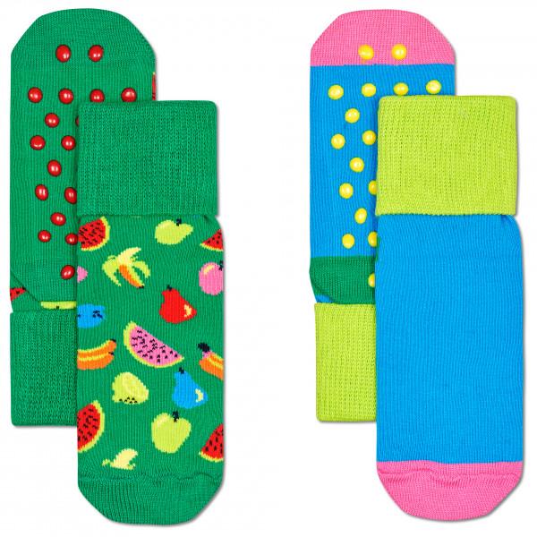 Happy Socks - Kid's Fruit Anti Slip 2-Pack - Monitoimisukat