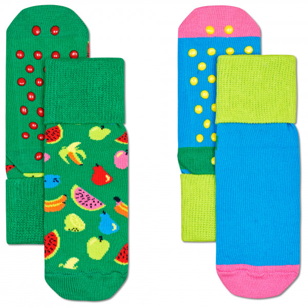 Happy Socks - Kid's Fruit Anti Slip 2-Pack - Multifunktionssockor