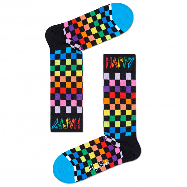 Happy Socks - Rainbow Check Thin Crew Sock - Multifunktionssocken