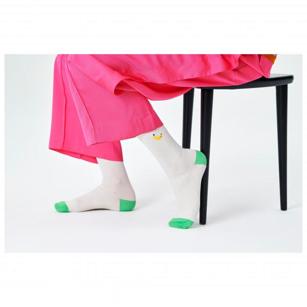 Ribbed Embroidery Banana Sock - Sports socks