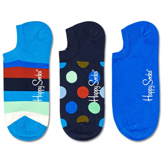 Stripe No Show Sock 3-Pack - Sports socks