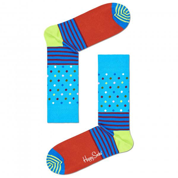 Stripes And Dots Sock - Sports socks