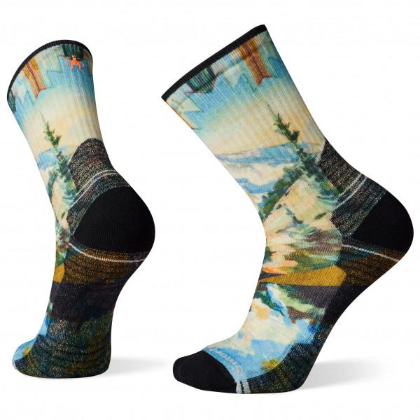 Performance Hike Light Cushion Mountain Print Crew - Walking socks