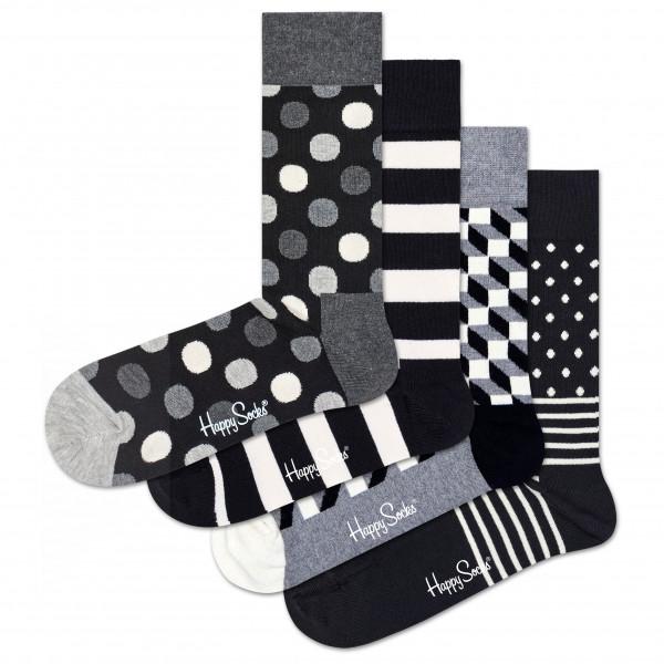 Classic Black & White Socks Gift Set 4-Pack - Sports socks