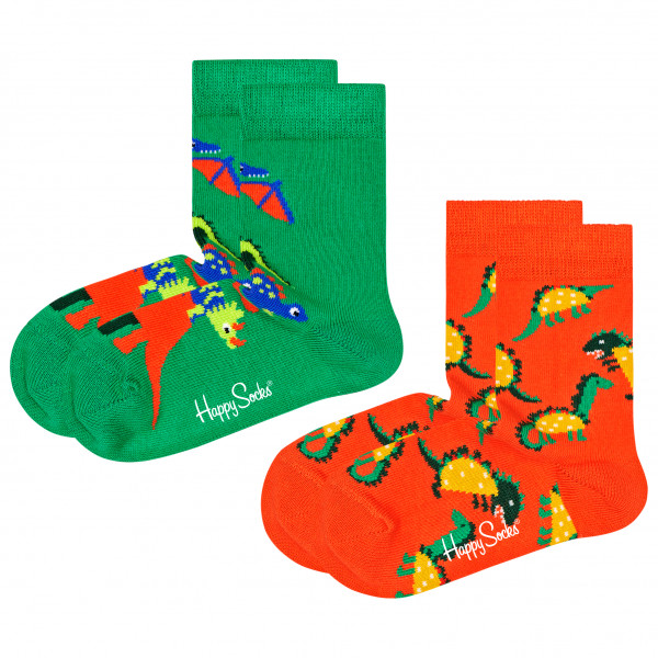 Kid's Dinos Socks 2-Pack - Sports socks
