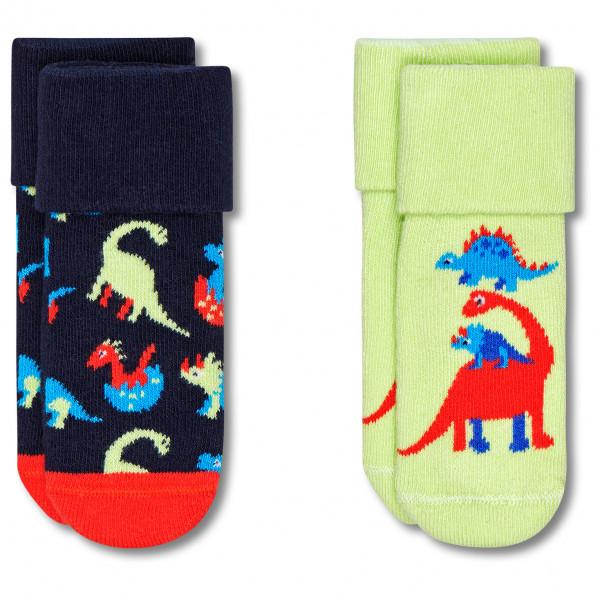 Kid's Dinos Terry Socks 2-Pack - Sports socks