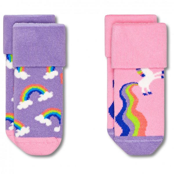 Kid's Rainbow & Unicorn Terry Socks 2-Pack - Sports socks