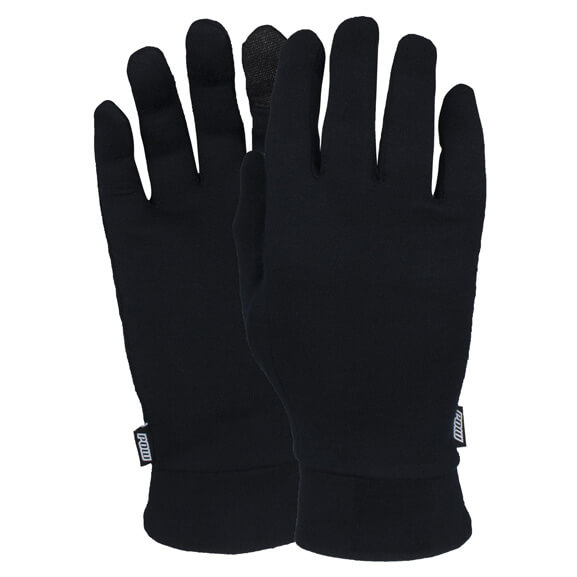 POW - Black Merino Liner - Gloves