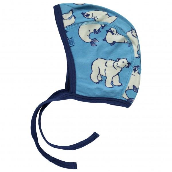 Smafolk - Baby Hood Wool Polarbear - Mütze
