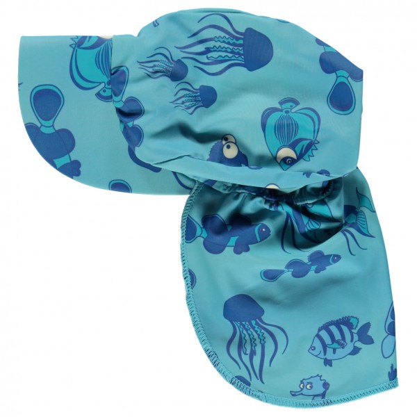 Smafolk - Kid's Swimwear Sun Cap Fishes - Lippalakki