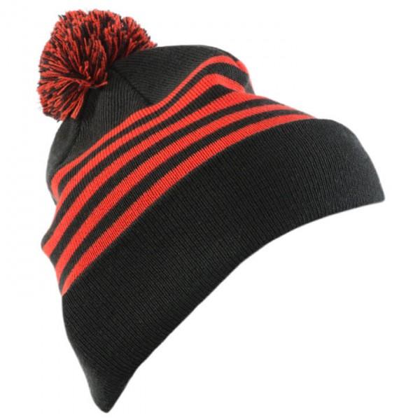 Mons Royale - Stripe Pom-Pom Beanie - Mössa