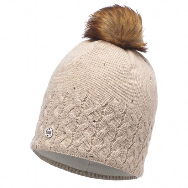 Buff - Women's Knitted & Polar Hat Elie - Lue