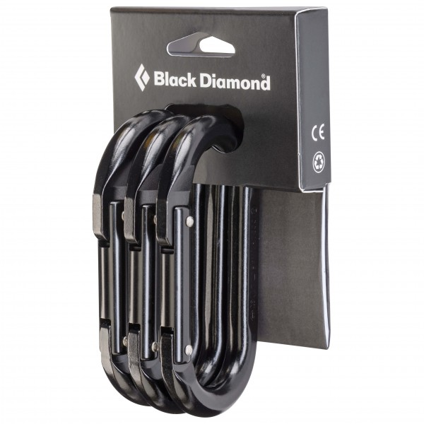 Black Diamond - Oval 3-Pack - Non-locking carabiner