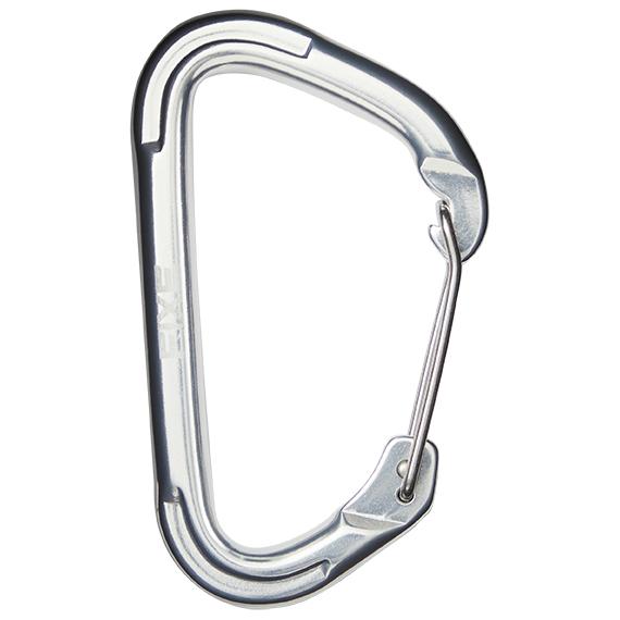 Fixe - Rock Clip Recto Plata - Karabin med snaplås