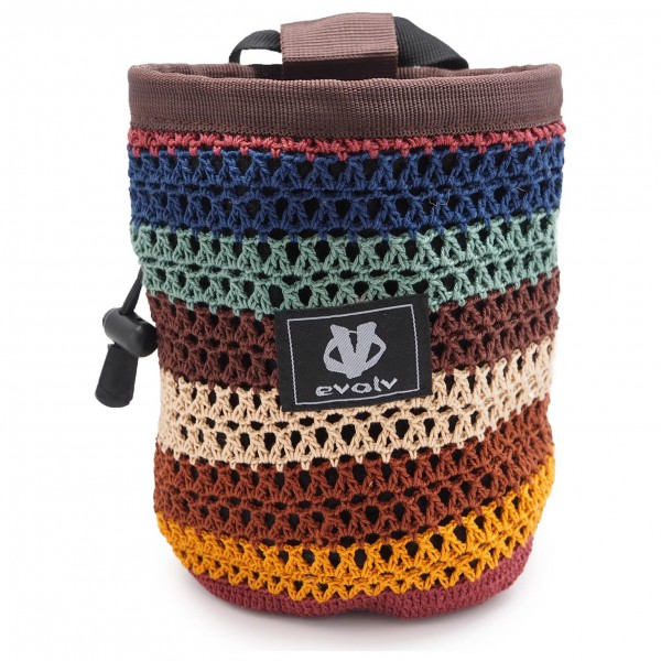 Evolv - Knit Chalk Bag Sherpa - Magnesiumpussi