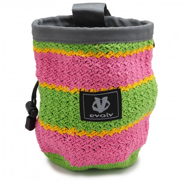 Evolv - Knit Chalk Bag Lily - Magnesiumpussi