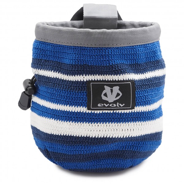 Evolv - Knit Chalk Bag Aqualine - Magnesiumpussi