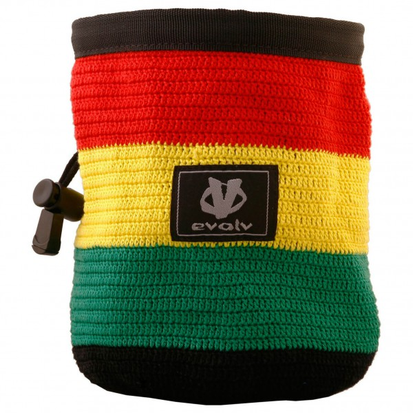 Evolv - Knit Chalk Bag Rasta - Sac à magnésie