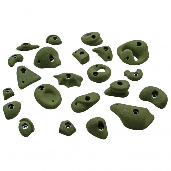 KMZ Holds - Set 1 - Set of 22 climbing holds S-XL