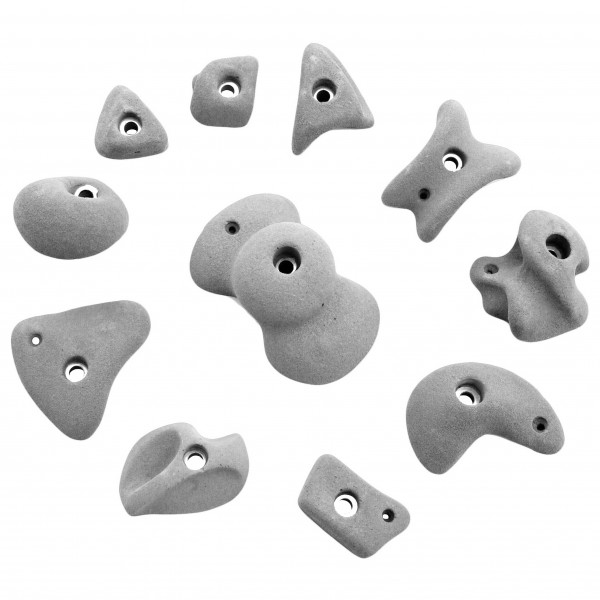 KMZ Holds - Set 4 - Set of 11 climbing holds S-XL