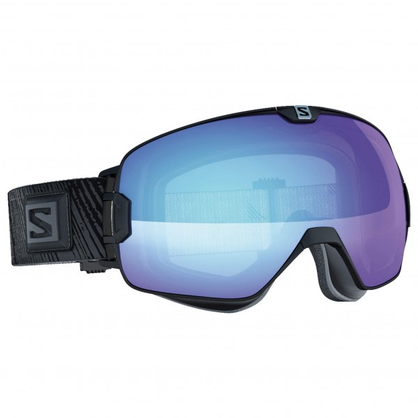 Salomon - Xmax Photo Black/All Weather Blue - Masque de ski