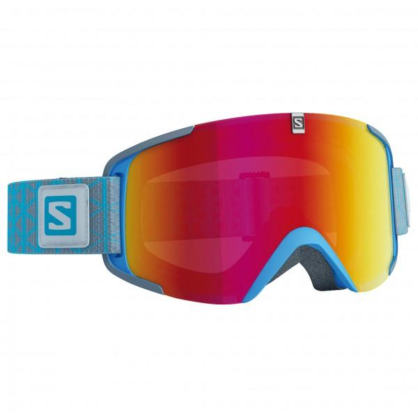 Salomon - Xview Blue/Univ. Mid Red - Ski goggles