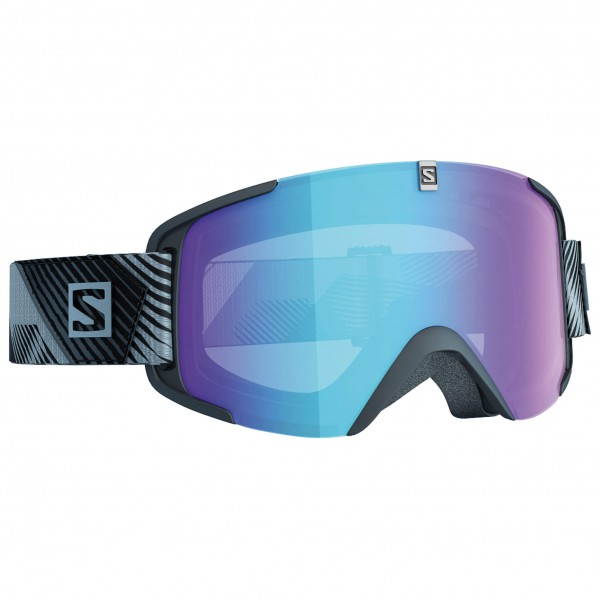 Salomon - Xview Photo Black/All Weather Blue - Masque de ski
