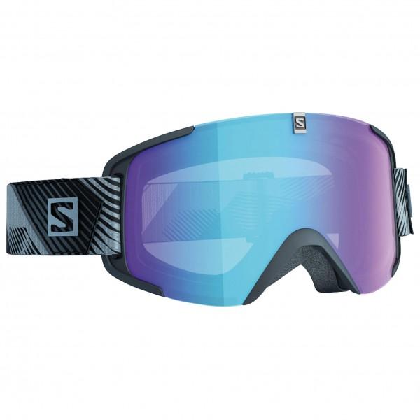 Salomon - Xview Photo Black/All Weather Blue - Skibrille
