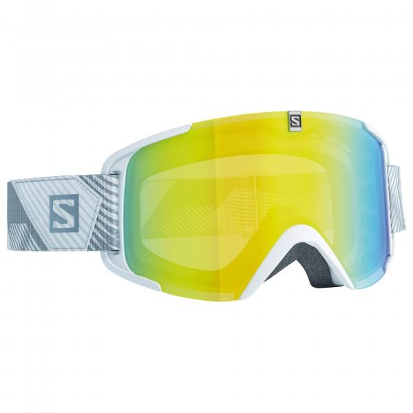 Salomon - Xview White/Lo Light Light Yello - Ski goggles