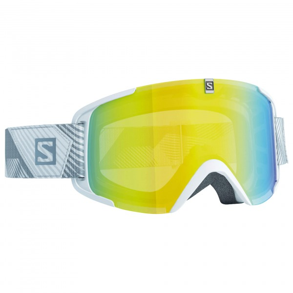 Salomon - Xview White/Lo Light Light Yello - Masque de ski