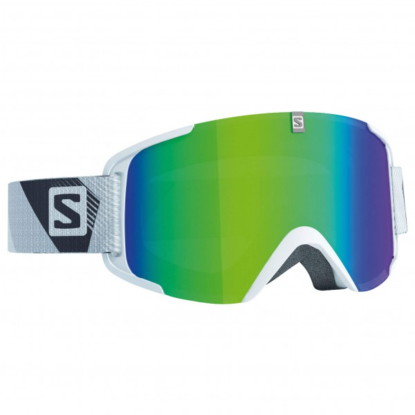 Salomon - Xview White/Solar Green - Masque de ski