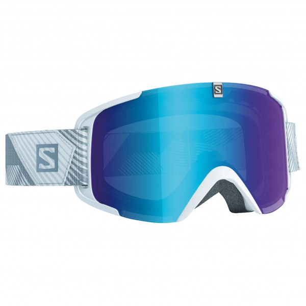Salomon - Xview White/Univ. Mid Blue - Masque de ski