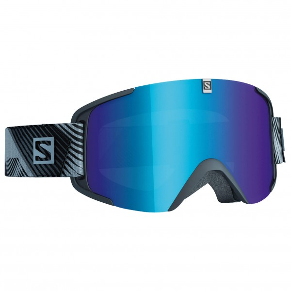 Salomon - Xview Xtra L. Black/Solar Blue - Skibrille