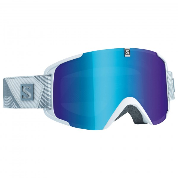 Salomon - Xview Xtra L. White/Solar Blue - Masque de ski