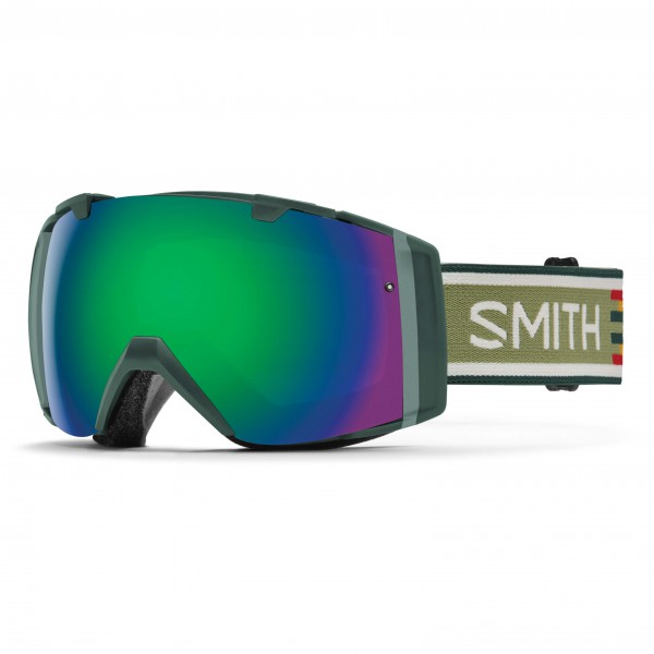 Smith - I/O Green Sol-X / Red Sensor Mirror - Skibrille