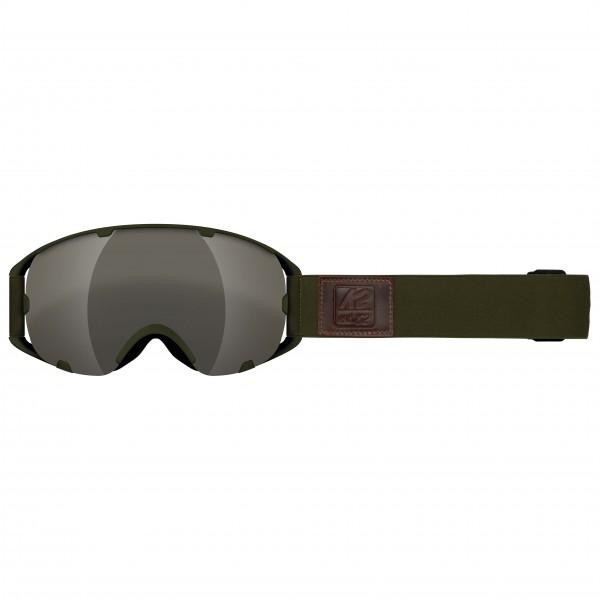 K2 - Source Silver Earth + Amber Flash - Masque de ski