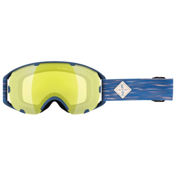K2 - Source Yellow Flash + Silver Earth - Masque de ski