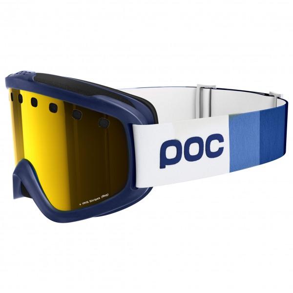POC - Iris Stripes Persimmon/Blue Mirror - Masque de ski