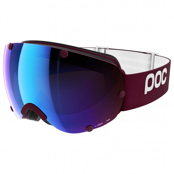 POC - Lobes Persimmon/Blue Mirror - Masque de ski