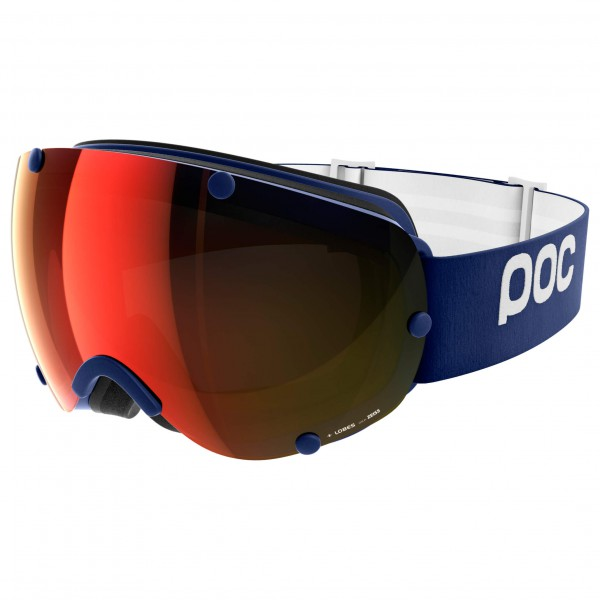 POC - Lobes Persimmon/Red Mirror - Masque de ski