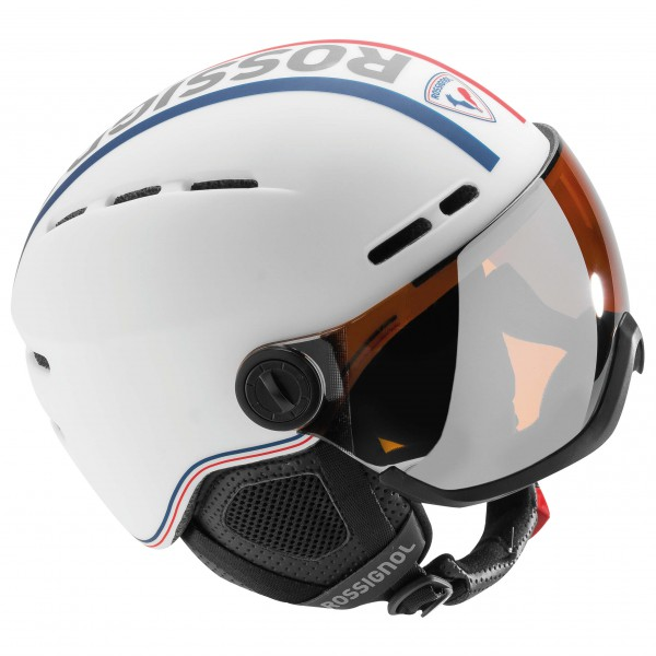 Rossignol - Visor Single Lense White - Laskettelukypärä