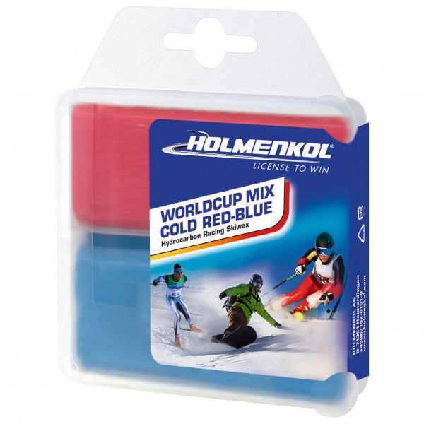 Holmenkol - Worldcup Mix Cold Red-Blue - Hete wax