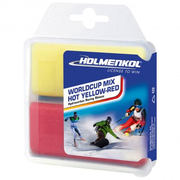 Holmenkol - Worldcup Mix Hot Yellow-Red - Varmvoks