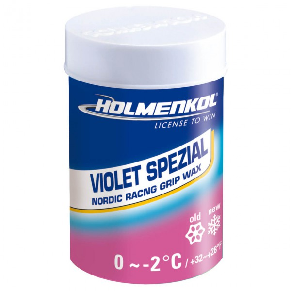 Holmenkol - Grip Violet Spezial - Rub-on universal wax