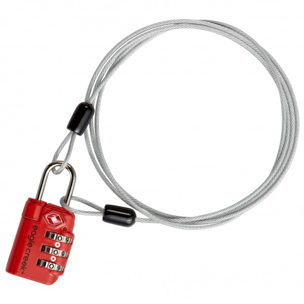 Eagle Creek - 3-Dial TSA Lock & Cable - Zahlenschloss