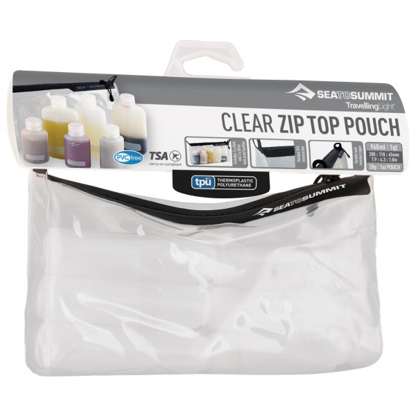 Sea to Summit - TPU Clear Ziptop Pouch - Toilettilaukku