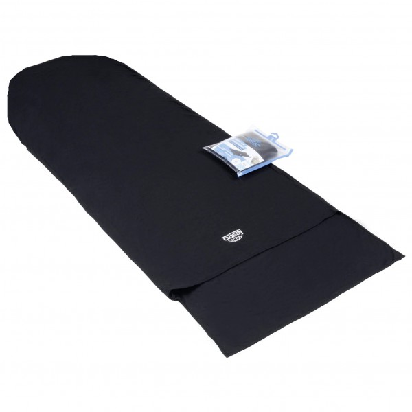 Lestra - Merino mummy-shaped sleeping bag liner with triang