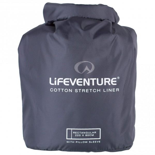 Lifeventure - Cotton Stretch Anti-Bact. Sleeping Bag Liner - Resesovsäck