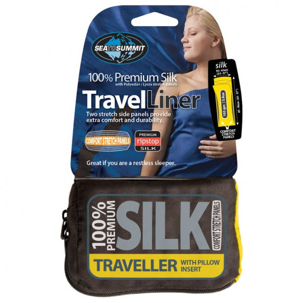 Sea to Summit - Silk Stretch Liner Traveller w/ Pillow Inser - Matkamakuupussi