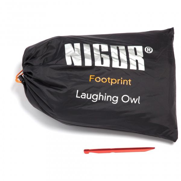 Nigor - Footprint Laughing Owl - Tentonderzeil